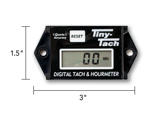 Tachometer With Hour Meter : Tiny tach self contained tachometer hour meter american